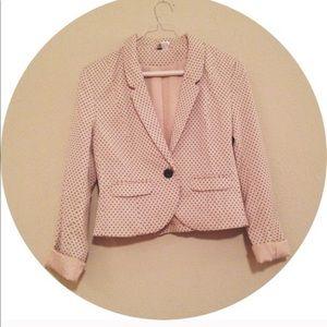 H&M Polka Dot crop blazer